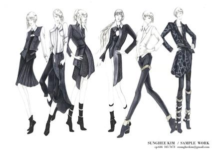 Sungheekim Freelance Fashion Illustrator Drawer