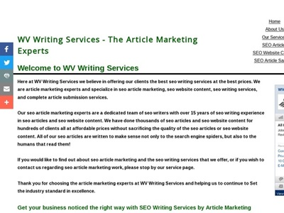 Article Writing portfolio item