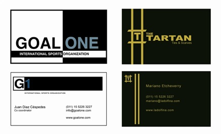 Business Card Design portfolio item
