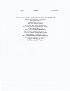 Song Writing portfolio item