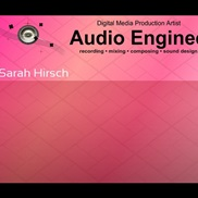 Audio Production portfolio item