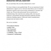 Virtual Assistance portfolio item