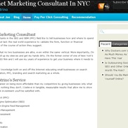 Internet Marketing portfolio item
