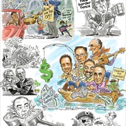 Political Cartooning portfolio item